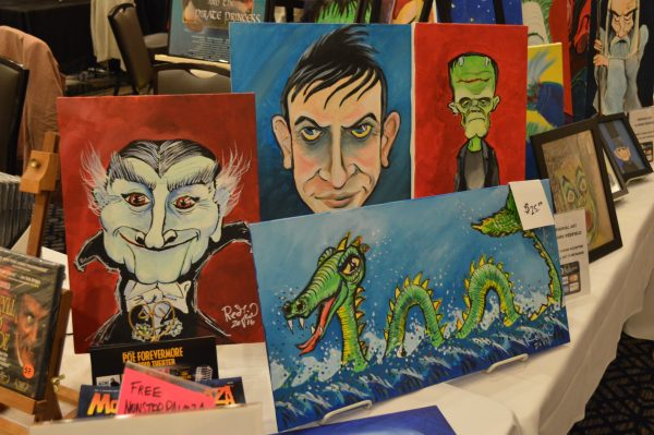 Art by Mark Redfield at Mid-Atlantic Nostalgia Convention 2016 credit Anthony C. Hayes