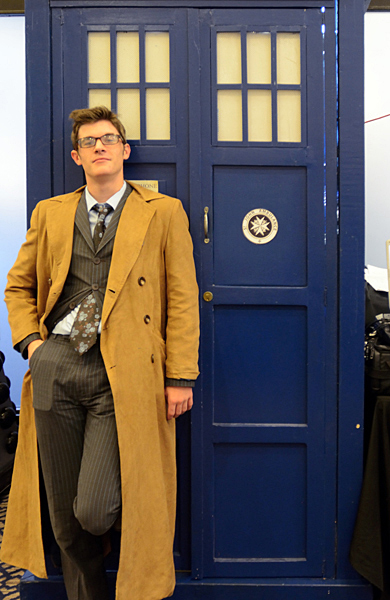 Dr. Who beside his Tardis. (Cheryl Fair)