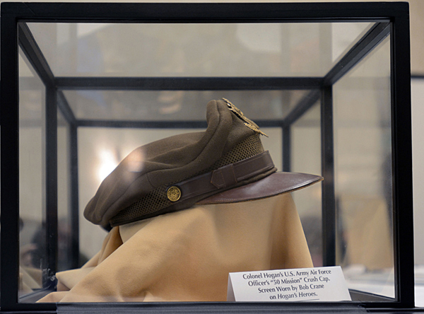 The WWII crusher hat worn by Bob Crane in Hogan's Heroes.  (Cheryl Fair)
