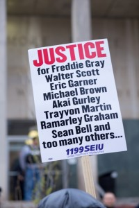 Two days before the Baltimore riots, protesters marched to demand justice for Freddie Gray. (Erik Hoffman)