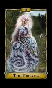 Juli Moon as the Empress for the Magical Realism Tarot deck.