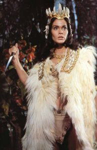 Martine Beswick from the Hammer classic Prehistoric Women.