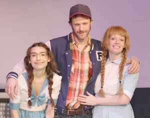 Madison Coan, Rjyan and Carly J. Bales in a family portrait. (Courtesy Annex Theatre)