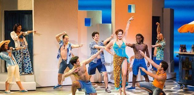 Cashelle Butler lights up the stage in Momma Mia! at the Hippodrome Theatre in Baltimore.