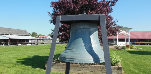 St. Michaels, Maryland: A bell from the last bell foundry in Baltimore. On Nov. 11, 2018, bells across Maryland with be sounded as part of the Bells of Peace WWI Armistice Day commemoration. (Anthony C. Hayes)