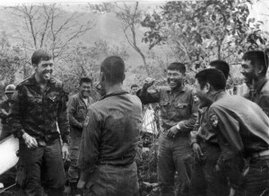 Nawrozki near Song Cau, RVN. Combat patrol, Operation Ojakyo with his my brave brothers of the South Korean Tiger Division. (Courtesy Lisa Nawrozki)