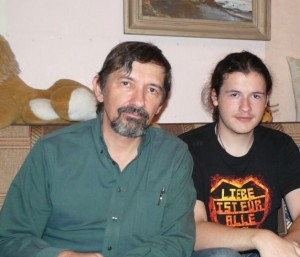 Nicholas and Noah in Moscow in 2012.