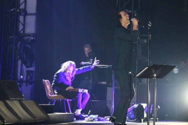 Warren Ellis and Nick Cave: Nick Cave and The Bad Seeds tour at The Anthem in Washington, D.C. Oct 25, 2018 credit Todd Welsh