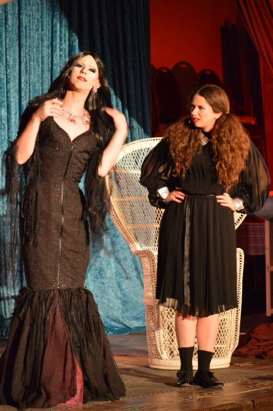 Betty O'Hellno and Whiskey find themselves in The Addams Family. (Anthony C. Hayes)