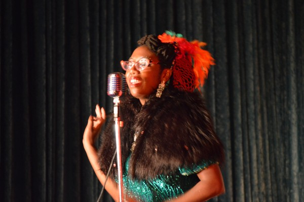 A musical moment with Dainty Dandridge. (Anthony C. Hayes)