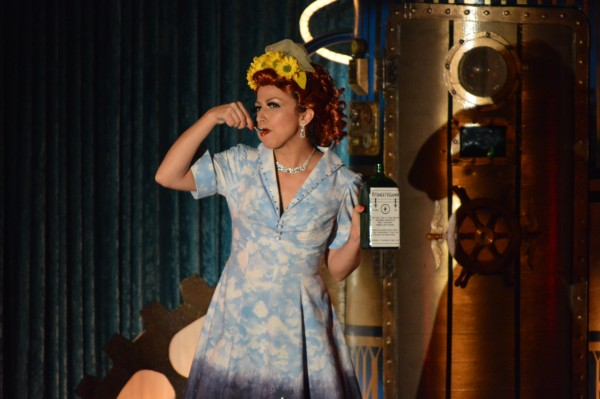 """""""And it's so tasty, too!"""" Tempete La Coeur as Lucy. (Anthony C. Hayes)"""