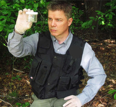 MUFON investigator Norm Gagon at the site of a reported UFO.