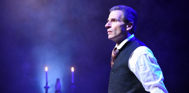 Paul Morella in Olney Theatre Center's production of A CHRISTMAS CAROL: A GHOST STORY OF CHRISTMAS. (Photo: Stan Barouh)