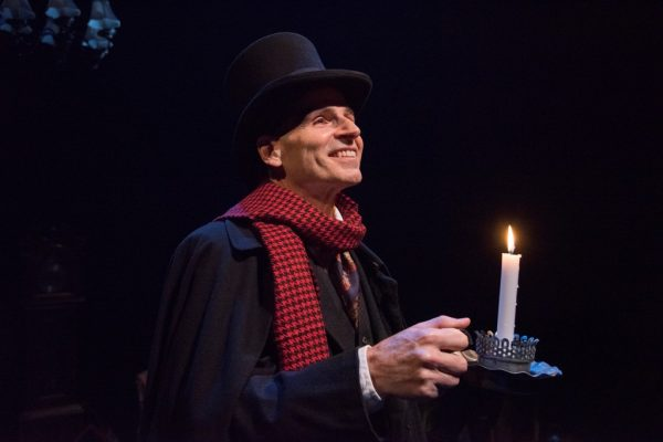 Paul Morella stars in A Christmas Carol: A Ghost Story of Christmas at Olney Theatre Center. (Stan Barouh)