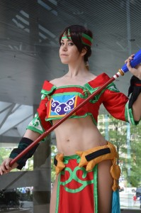 Julie Maxwell cosplaying Seong Mi-na from Soulcalibur. (Anthony C. Hayes)