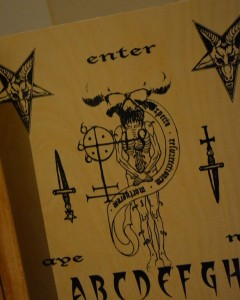 Sinister figures adorn some Ouija boards. (Rebecca Smith)
