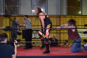 A timely low blow to G-Fed gave Oakley Woods his first victory in PCW.