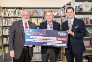 (Left to right): George J. Dover, M.D., Jonathan Myers, Pat Sajak  Photo credit: Children's Miracle Network Hospitals