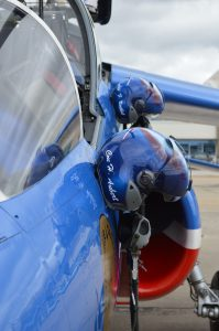 Helmits of the pilots of the Patrouille de France (Anthony C. Hayes)