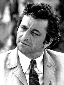 "Publicity photo of Peter Falk as TV character ""Columbo"". (Wikimedia)"