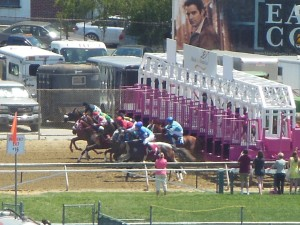 A view of the fourt race from the press box. (Anthony C. Hayes)