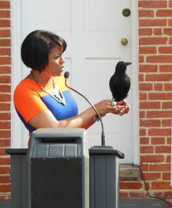 Former Mayor Stephanie Rawlings-Blake at the reopening or the Edgar Allan Poe House in Baltimore. (Anthony C. Hayes)