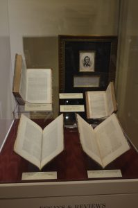 The Poe collection of Susan Jaffe Tane is currently on display at the Peabody Library in Baltimore. The library hosted the premiere of the new film Edgar Allan Poe: Buried Alive. (Anthony C. Hayes)
