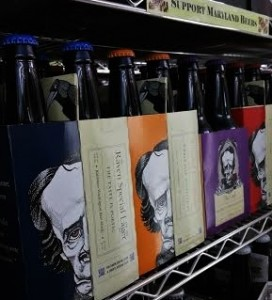 A selection of Poe-inspired beers at a Baltimore-area liquor store (Lauren Molander)