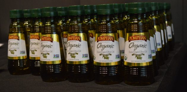 Pompeian Olive Oil is bottled in Baltimore, Maryland. (Anthony C. Hayes)