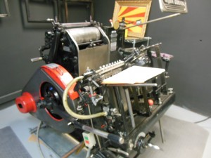 One of the Heidelberg Windmill presses used to create the Write Notepades. (Anthony C. Hayes)