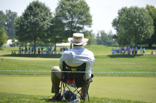 An offical waits for the coming crowd at the 2018 Quicken Loans National. (Anthony C. Hayes)