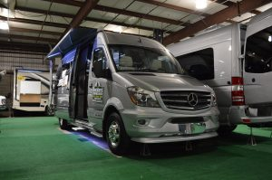 A Mercedes powered Airstream Touring Coach at the 2018 Maryland RV Show (Anthony C. Hayes)