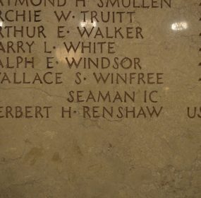 Herbert H. Renshaw on the plaque for Maryland servicemen from Wicomico County who died during World War I credit Anthony C. Hayes