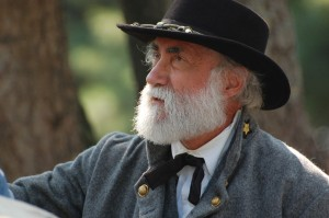 Living historian Frank Orlando as Robert E. Lee. (courtesy)