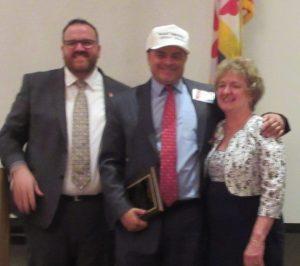 Central Committee member Robert Gillete, David Youngmann and Howard GOP chair Loretta Shields.