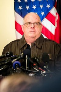 Governor Larry Hogan speaks about the Great Mills High School Shooting at a press conference March 20, 2018.(credit Michael Jordan)