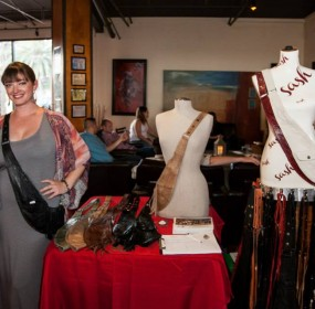 Nichole MacDonald designer of the Sash Bag