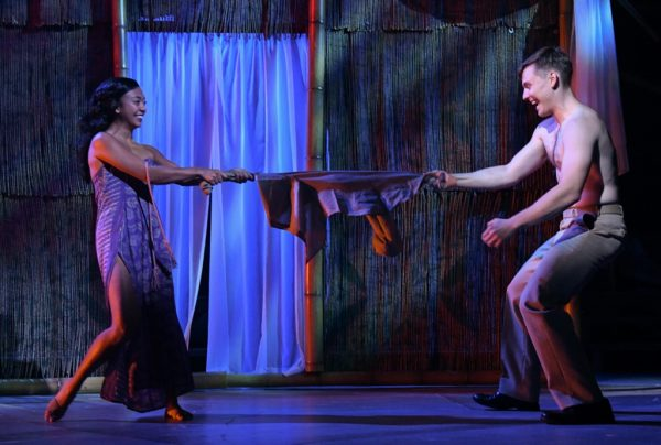 Alexandra Palting as Liat and Alex Prakken as Lt. Joe Cable in Rodgers and Hammerstein's SOUTH PACIFIC at Olney Theatre Center. (Photo: Stan Barouh)