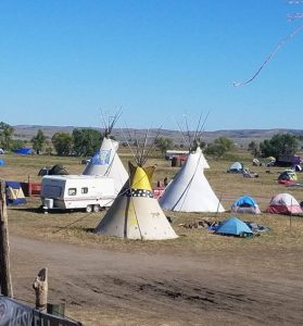 Teepees at Standing Rock. (Julie Fisher)