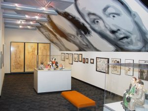 Three Stooges art may be found in a dedicated gallery at the Stoogeum in Ambler, PA. (courtesy)