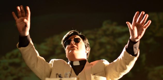 Lance Bankerd as Rev. Jim Jones in Thank You, Dad at Baltimore Theatre Project. (courtesy)