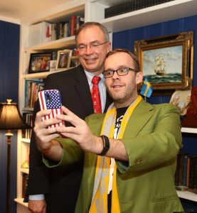 Tim Young with Republican Congressman Andy Harris. (Nicolee Ambrose)