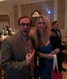 Tim Young (pictured with feisty firebrand Ann Coulter) hopes to shake up the political talk show scene. (Facebook)