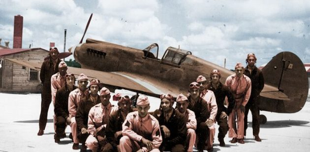 In Their Own Words: The Tuskegee Airmen group photo colorized