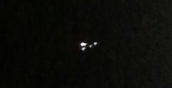 A UFO in the sky over Grovetown Georgia.