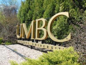 Campus sign at UMBC (Anthony C. Hayes)