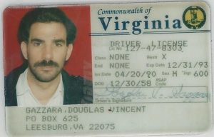 Virginia driver's license with fictitious under cover name and identifiers.