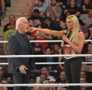 Charlotte summarily dismisses her stunned manager and father, Nature Boy Ric Flair. (Anthony C. Hayes)