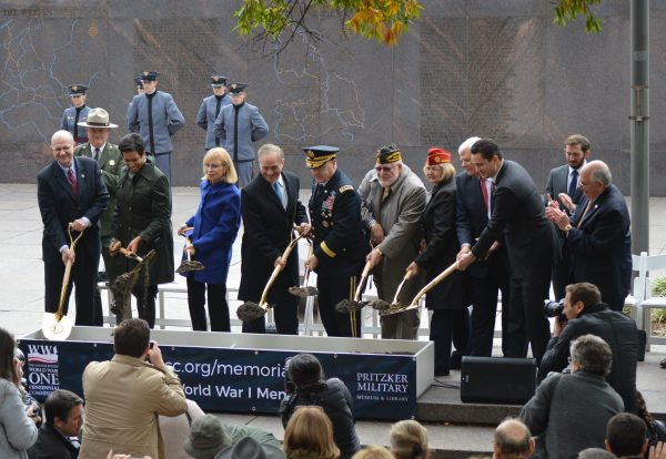 Official break ground for the new World War I memorial in Washington, D.C. (Anthony C. Hayes)