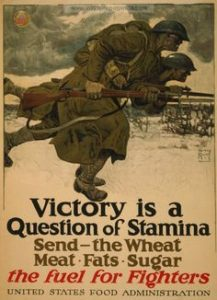 A US Food Administration poster from World War I. Libby O'Connell has written a book which uses food and drink as a lens for exploring the past.